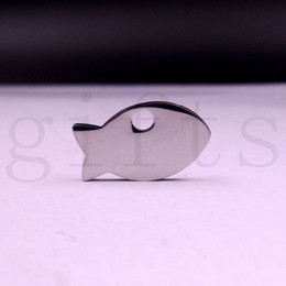 Wholesale Small pendants fish 20*12mm Highly polished stainless Jewelry Accessories used for zippers, bags, jewelry, key chains