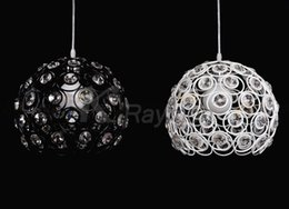 Wholesale High Quality cm Aluminium Spherical amp Acrylic Pendant Light Lampshade Electrical Wire E27 Lamp Holder Ceiling Base