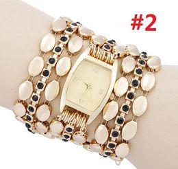 Luxury Gold Women Bracelet Watches Womens Diamond Metal Dress Watch Rhinestone Watches for Women Reloj Free Shipping