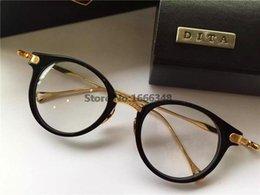 Or gros cadres lunettes en Ligne-Vente en gros nouveau lunettes Dita DITA Edmont forme ronde rétro lunettes de lecture vintage frame hommes d'or brillant conception optique or 18K