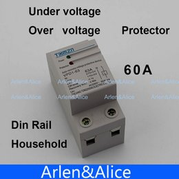 Wholesale 60A V Household Din rail automatic recovery reconnect over voltage and under voltage adjustable protective device protector
