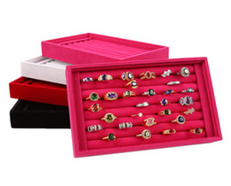 23*14.5*3CM Fashion Square Box Case Jewelry Organizer High-grade Velvet Ring Box Stud Earrings Ring Tray Jewelry Box Jewelry Display Cases