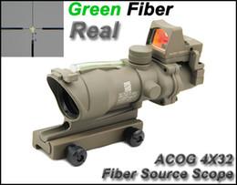 NEW Trijicon ACOG 4x32 Fiber Source Green Illuminated Real Green Fiber Tactical Hunting Scope With RMR Micro Red Dot Sight Dark Earth