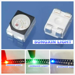 Wholesale RGB POWER TOP SMD SMT PLCC LED Common Anode Red Green Blue New light emitting diodes RGB