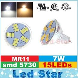 Gu4 conduit en Ligne-Haute luminosité 7W MR11 Spot Led Ampoules Lampe DC 12V GU4 SMD 5630 LED Lampes Remplacer la lampe halogène