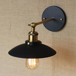Vintage Iron Metal Black Wall Lamp Creative Corridor Garden Hallway Outdoor Lighting Edison Bulb Fixtures Fast Delivery