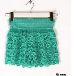Wholesale 2015 New Woman Shorts Fashion Cotton Crochet Lace Shorts Mercerized lining Mini Lace Tiered Shorts