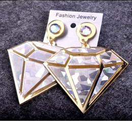 Wholesale Singer Wholesale - European Fashion DJ Singer Jewelry Accessories Gold Silver Acrylic Big Women Dangle Earrings Hot Sale Wholesale