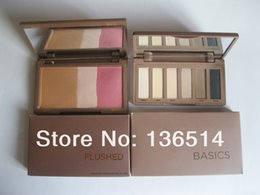 Wholesale New brand makeup MATTE BASICS color eyeshadow x1 g and FLUSHED PALETTE blush G