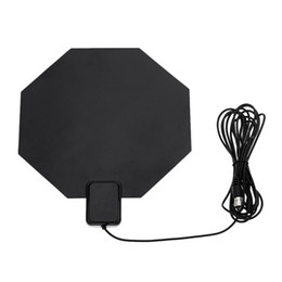 Wholesale US Plug Digital Indoor HDTV DTV TV Antenna Flat Design Support Receiving VHF UHF Signals Free Digital Analog Signals High Gain V1235
