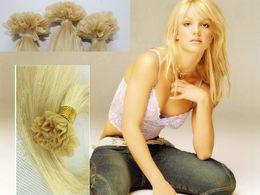 "5A grade 1g  strand 100g set Peruvian remy Italian keratin v tip hair extensions 16"" - 24"" 60# platinum blonde"