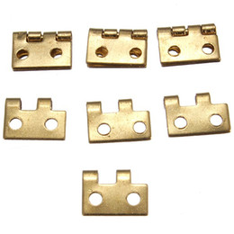 Wholesale Hot Sale Mini Small Metal Hinge with Screws for Dollhouse Miniature Furniture order lt no track