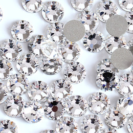 Wholesale crystal mix size Nail Art rhinestones no swarovski crystal Rhinestones D Nail Art Decoration Jewelry accessories Flat Back stone