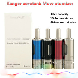 Wholesale Kanger aerotank Mow Adjustable Airflow valve ml aerotank mow fit all dual coil vs kanger aerotank turbo Mega Nautilus Mini atomizer DHL