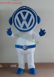 Hot Sale Vw logo cartoon Mascot Costume Cartoon Character Party Dress Costume