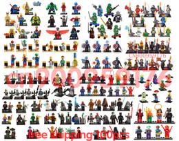 Wholesale 100pcs marvel super hero spiderman hulk Figures Building Blocks