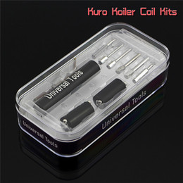 New Kuro Koiler Universal Tools 6 in 1 Kit Coil Jig Coiler Wrapping Coiling Builder Heating Wire Tool For DIY RDA Atomizer DHL