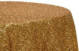 """Hot Sale 72"""" Round Gold Sequin Table Cloth Round Tablecloth Wholesale Sequin Tablecloths For Wedding Party Brithday"""