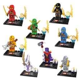 Wholesale 480pcs Ninja Minifigures Ninjago Cole Jay Kai Lloyd Ninja Minifigures Building Blocks