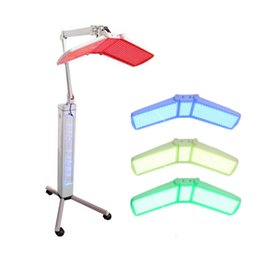 Wholesale Top quality Floor Standing Pro PDT machine PHOTON FACIAL Skin Rejuvenation Red Blue Yellow Green LED light therapy equipment