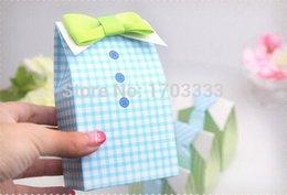 Promotion boîte de petit gâteau de faveur de fête de mariage Boîte de bonbons de faveur de mariage - boîte mignonne de faveur de garçon boîte de gâteau de douille de boîte de bonbon de partie de baby shower de bonbon 200pcs / lot Livraison gratuite 0915 # 15