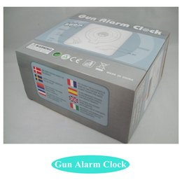 Wholesale Novelty Gun Alarm Clock LCD Laser Gun Shooting Target Wake UP Alarm Desk Clock Gadget Fun Toy Gun Alarm Clock A1