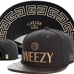 Wholesale CAYLER SONS C S Goldie Cap Cayler and Sons C S Goldie Weezy Hats Best Quality Snapback Cap Beanie Strapback Cap Headwear Black