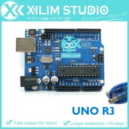 Wholesale UNO R3 AVR MicroController Board base on DIP ATmega328 with USB Cable For Arduino UNO Rev3 High Quality