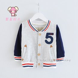 Wholesale 2015 Spring Autumn New Products Little Boys Baseball Jackets Assorted Colors Long Sleeve Outwear For Kids Leisure Joker Children Tops K597