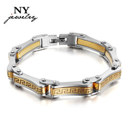 Wholesale Silver Charm Bracelets Luxury - Luxury men bracelets & bangles charms man jewelry silver & gold top workmanship gifts