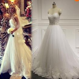 Real Wedding Dresses Sweetheart Ruched Beading Appliques Fashion Bridal Dress Custom made Chapel Train Bridal Dress