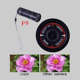 Promotion caméra de voiture de vélo Mini caméra F9 vidéo HD 1080P H.264 caméra étanche DV Sport Caméra adapté pour la voiture DVR extérieure Casque de vélo
