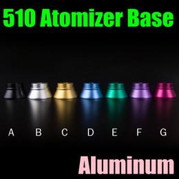Aluminum 510 Atomizer Base Colorful Ecig Display Holders Metal Electronic Cigarette Vaporizer Stand Free Shipping FJ525