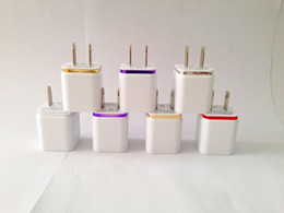 Wholesale wall charger EU US Plug V A Dual USB Wall Charger Adapter Port Charger Adapter for iPhone s for ipad air i iTouch HTC Samsung