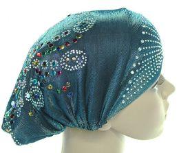 Wholesale Turban Hat Cap Hijab Hairband Bandana Wrap Muslim Under Scarf Hat headgear Shimmering silk wrap