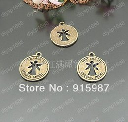 2017 boutiques de charme 100pcs / lot 19mm bronze ange antique Pendentifs Charm ailes pendentifs Bijoux Bijou Fit Faire du shopping gratuit boutiques de charme autorisation