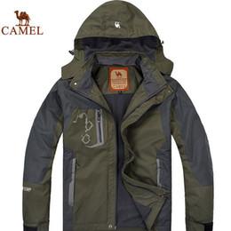 Wholesale 2016 Brand Men s Outdoor Quick Drying Mountaineering Ski wear Windbreak Windproof Breathable Windbreaker Softshell Jacket L XL
