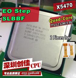 Original Intel Xeon X5470 CPU processor  3.3GHz  LGA771 12MB L2 Cache Quad Core  server CPU Free Shipping scrattered pieces