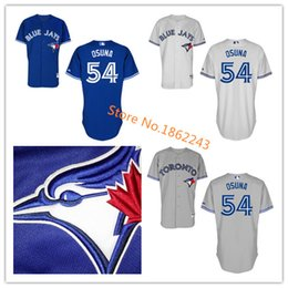 54 Roberto Osuna Jersey Toronto Blue Jays Jerseys Cheap Blue White Grey Color Authentic Stitched Roberto Osuna Baseball Jersey