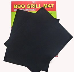 Brand New Set of 2 Reuseable BBQ Grill Mat Liner Non-Stick Barbecue Cooking Baking Mat Sheet With Logo Packing