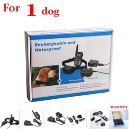 20pcs lot*(1 dog) 300M Rechargeable Waterproof Remote 100LV Pet Dog Training Bark Stop Collar