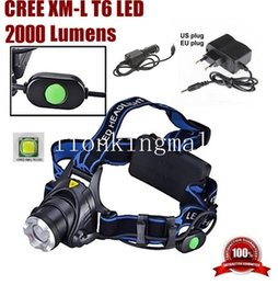A88 CREE XM-L T6 LED 2000Lm Zoomable Headlight LED Headlamp CREE For 2x18650(not include) +Charger