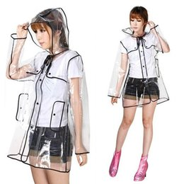 Fashion 2015 New Hot Sales Women Transparent Clear Rain Coat Camping Long Parka Clothing Tops Raincoat