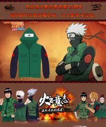 Wholesale Cosplay Sweaters - Freeshipping Anime Naruto Hatake Kakashi Ninja Cosplay Costumes Unisex Hoodie Coat Jacket Nara Shikamaru Hooded Sweater Sweatshirts Suits