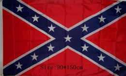Wholesale Confederate Rebel Flag Civil War Flag Two Sides Printed Flag USA National Polyester Flags X FT Refly