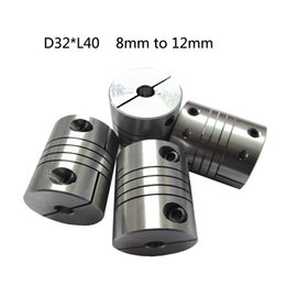 Wholesale Aluminium linear Shaft Coupler mm with mm D32mm L40mm clamping Flexible Coupling for cnc Stepper Motor