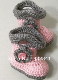 2015 Pretty Pink high to help firefighters warm boots. Gray lace wool shoes. 9,10,11 CM.baby wear cheap shoes 0-12M cotton
