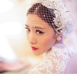 Wholesale 2016 Korean brides tire headdress flower white hair ornament wedding lace flower dish hair modelling wedding accessories accessories