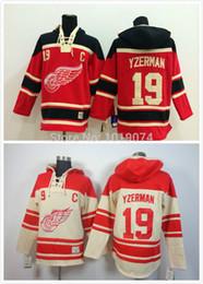 Factory Outlet, Men's Detroit Red wings #19 Steve Yzerman hockey jersey  hockey hoodie, stitched jersey hoodie  sweatshirt