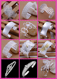 Wholesale Dragonfly Butterfly Rose Chrysanthemum plated sterling silver Exaggeration Wide bracelet women Christmas gift